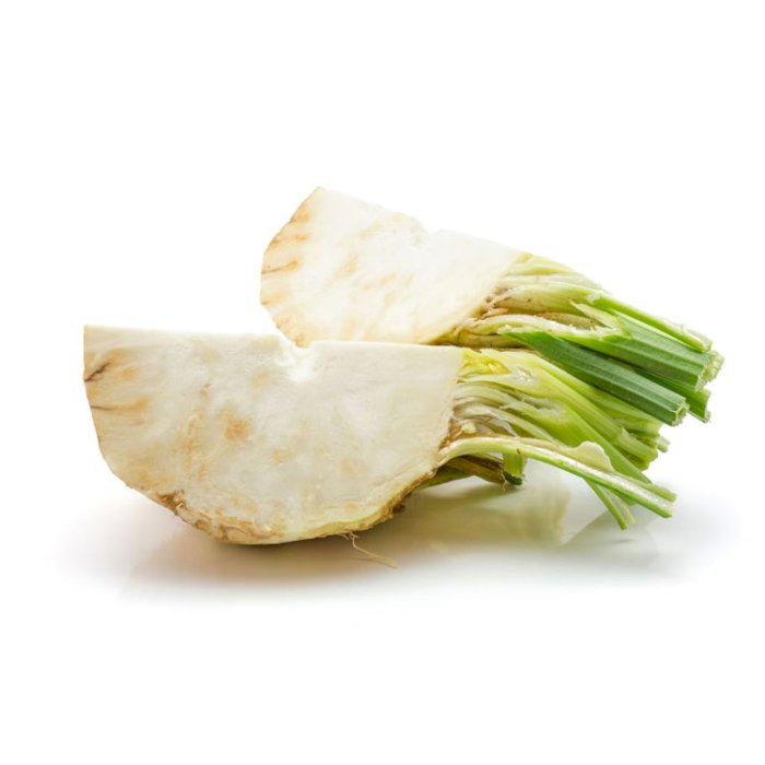 ​​Celery Root Sliced